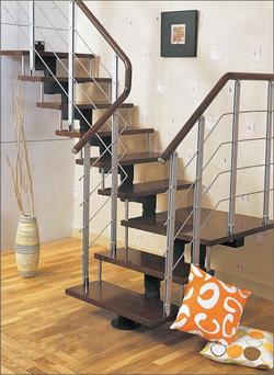 Фото 39 Балясины из металла лестница в стиле High-tech