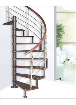 Фото 40 Балясины из металла винтовая лестница в стиле High-tech