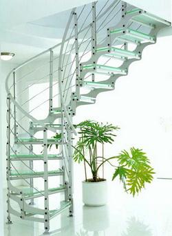 Фото 41 Балясины из металла винтовая лестница в стиле High-tech