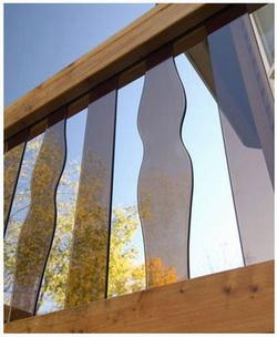 Фото 49 Плоские балясины из стекла